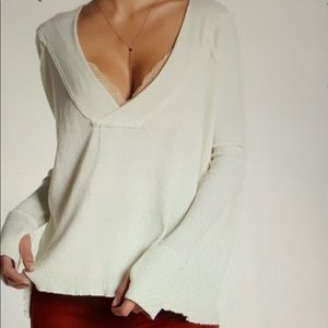 Free People White Oceanview Top Womens Size S